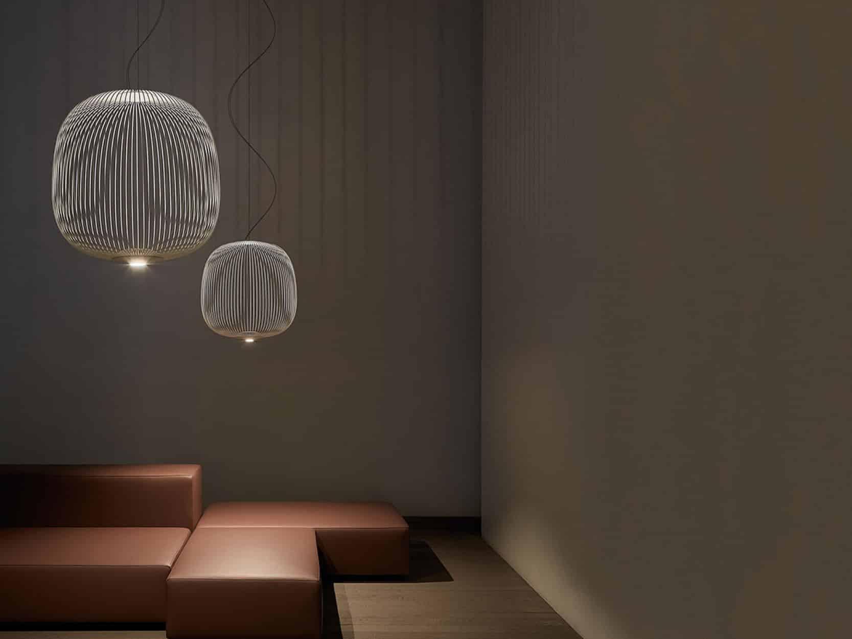 Foscarini hanglamp Spokes2 sfeer donker
