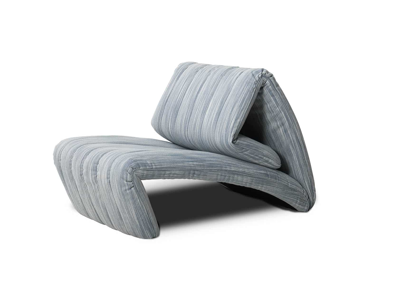 De Sede fauteuil DS-266 zijaanzicht stof